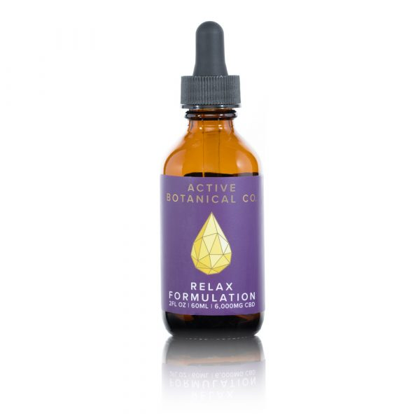 6000mg CBD Relax Tincture Active Botanical Co.